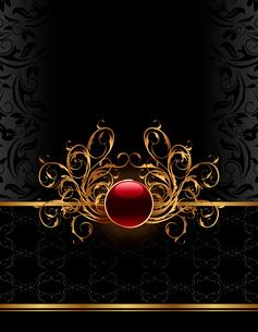 Illustration golden ornate frame for design - vectorのイラスト素材 [FYI03072248]