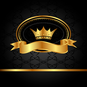 Illustration royal background with golden frame - vectorのイラスト素材 [FYI03072252]