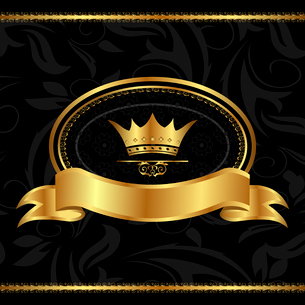 Illustration royal background with golden frame - vectorのイラスト素材 [FYI03072253]