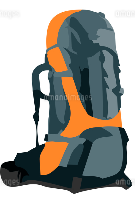 Realistic illustration of tourism backpack isolated on white background - vectorのイラスト素材 [FYI03072256]