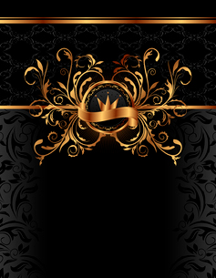 Illustration royal background with golden frame - vectorのイラスト素材 [FYI03072257]