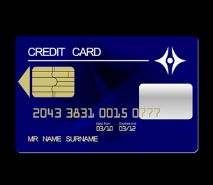 Realistic illustration credit card - vectorのイラスト素材 [FYI03072296]
