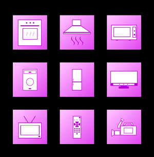 Icon appliances. Vectorのイラスト素材 [FYI03072297]