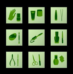 Cosmetic icons. Vectorのイラスト素材 [FYI03072304]