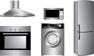 Vector detailed household appliances iconsのイラスト素材 [FYI03072326]