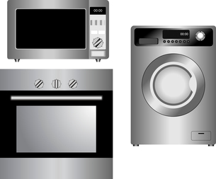 Set of household appliances. Vector illustration. Isolated.のイラスト素材 [FYI03072330]
