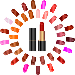 Palette of colours of lipstick - vectorのイラスト素材 [FYI03072343]