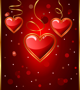 Illustration congratulation card with heart for Valentine's day - vectorのイラスト素材 [FYI03072347]
