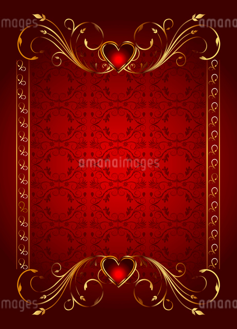 Illustartion floral card with hearts for Valentine's day - vectorのイラスト素材 [FYI03072350]