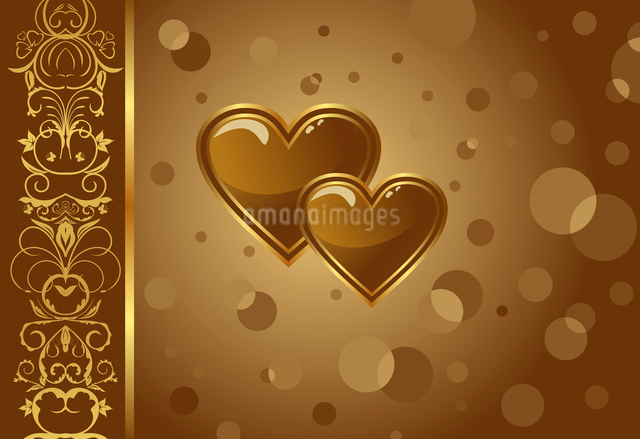 Illustration congratulation card with heart for Valentine's day - vectorのイラスト素材 [FYI03072354]