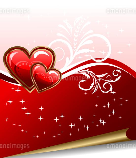 Illustration romantic elegance background with heart - vectorのイラスト素材 [FYI03072355]