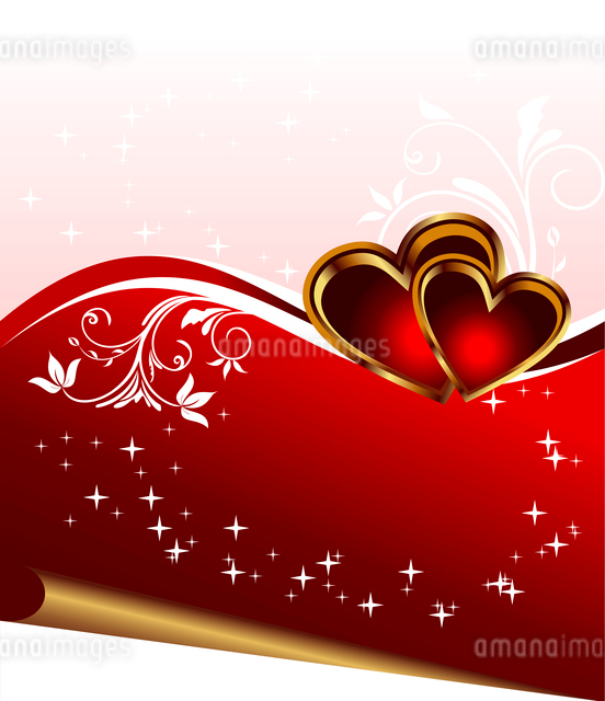 Illustration romantic elegance background with heart - vectorのイラスト素材 [FYI03072356]
