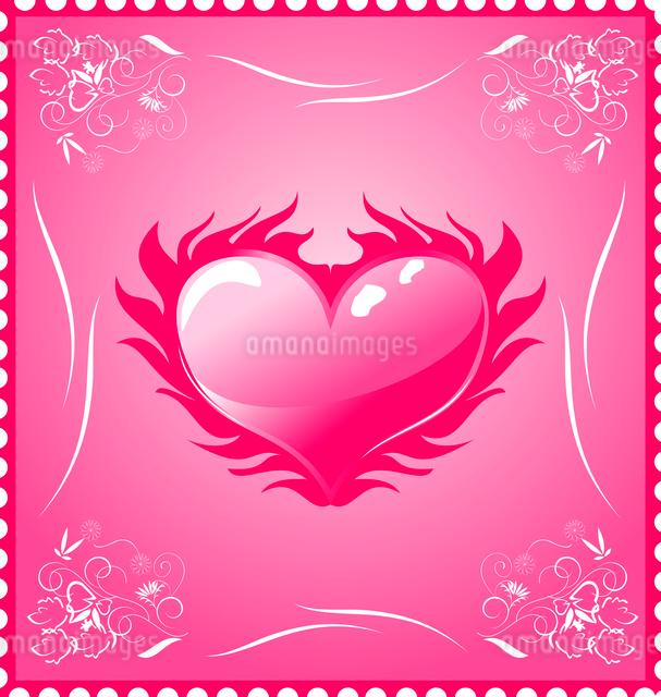 Illustration romantic stamp for Valentine's day - vectorのイラスト素材 [FYI03072360]