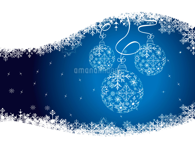Illustration christmas background with balls made of snowflakes - vectorのイラスト素材 [FYI03072383]