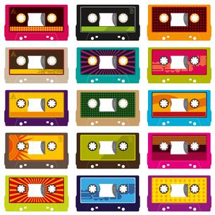 Audio cassettes isolated on whiteのイラスト素材 [FYI03072390]
