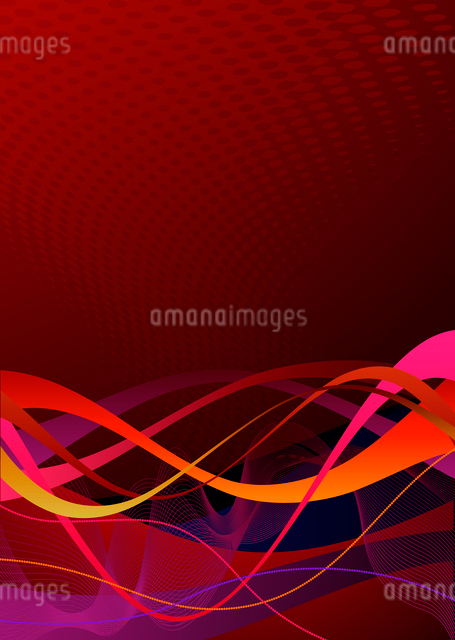 Vector illustration of red abstract lines backgroundのイラスト素材 [FYI03072439]