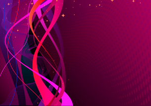 Vector illustration of violet abstract lines backgroundのイラスト素材 [FYI03072447]
