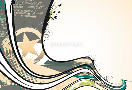 Vector illustration of urban background with grunge stained Design elementsのイラスト素材 [FYI03072467]