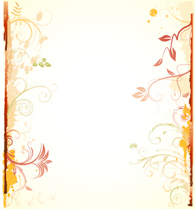Vector illustration of styled Floral Decorative backgroundのイラスト素材 [FYI03072475]