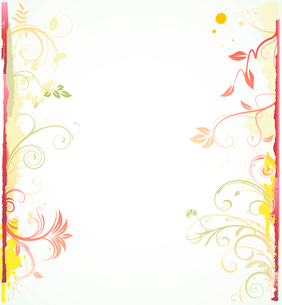 Vector illustration of styled Floral Decorative backgroundのイラスト素材 [FYI03072479]