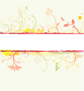 Vector illustration of styled Floral Decorative bannerのイラスト素材 [FYI03072486]