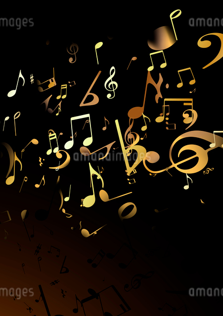 Vector illustration of black retro style music Abstract backgroundのイラスト素材 [FYI03072501]