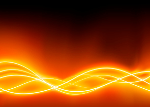 A vector illustrated   futuristic background resembling red motion blurred neon light curvesのイラスト素材 [FYI03072526]