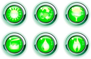 Vector illustration set of green ecologe iconsのイラスト素材 [FYI03072552]