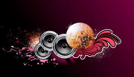Vector illustration of grunge abstract party Background with music design elementsのイラスト素材 [FYI03072568]