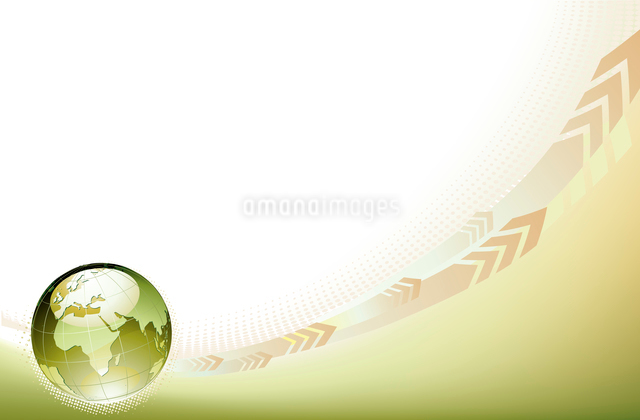 Vector illustration of abstract Background with Glossy Earth Globeのイラスト素材 [FYI03072589]