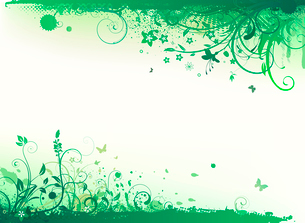 Vector illustration of styled Floral Decorative backgroundのイラスト素材 [FYI03072632]