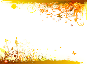 Vector illustration of styled Floral Decorative backgroundのイラスト素材 [FYI03072636]