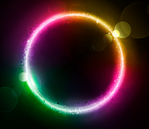 Vector illustration of color abstract background with blurred magic neon light circleのイラスト素材 [FYI03072681]