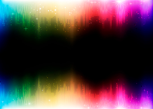 Vector illustration of futuristic abstract glowing party backgroundのイラスト素材 [FYI03072710]