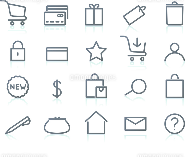 Vector illustration of original e-commerce Icon Set, good for web, software etc.のイラスト素材 [FYI03072729]