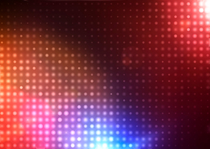 Vector illustration of disco lights dots pattern on red backgroundのイラスト素材 [FYI03072749]