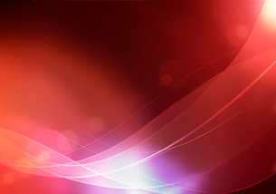 Vector illustration of red abstract background made of light splashes and curved linesのイラスト素材 [FYI03072750]