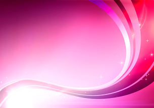 Vector illustration of pink abstract background made of light splashes and curved linesのイラスト素材 [FYI03072754]
