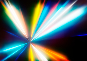 Vector illustration of abstract background with blurred magic neon color light raysのイラスト素材 [FYI03072760]