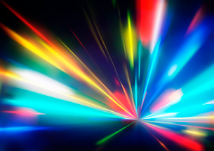Vector illustration of abstract background with blurred magic neon color light raysのイラスト素材 [FYI03072761]
