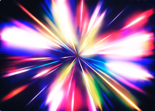 Vector illustration of abstract background with blurred magic neon color light raysのイラスト素材 [FYI03072765]
