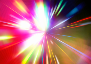 Vector illustration of abstract background with blurred magic neon color light raysのイラスト素材 [FYI03072766]
