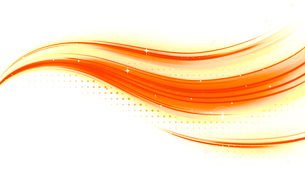 Vector illustration of abstract background made of color splashes and orange curved linesのイラスト素材 [FYI03072769]