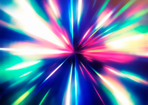 Vector illustration of abstract background with blurred magic neon color light raysのイラスト素材 [FYI03072770]