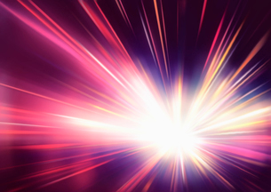 Vector illustration of abstract background with blurred magic neon red light raysのイラスト素材 [FYI03072778]