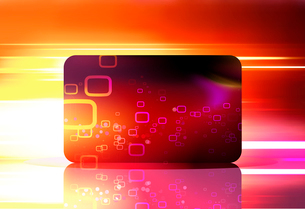 Vector illustration of red decorated gift card on the abstract blurred magic neon light backgroundのイラスト素材 [FYI03072783]