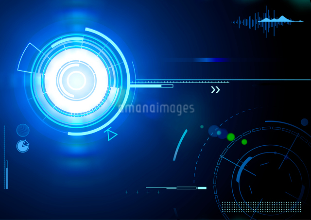 Vector illustration of blue abstract techno backgroundのイラスト素材 [FYI03072793]