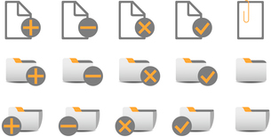Vector illustration of different database managment icons. You can use it for your website, applicatのイラスト素材 [FYI03072821]
