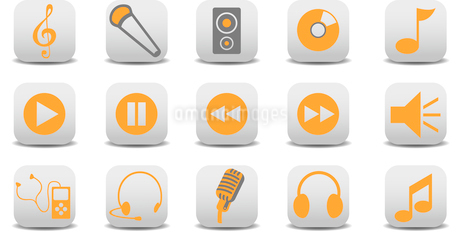Vector illustration of music/audio icons.You can use it for your website, application or presentatioのイラスト素材 [FYI03072823]