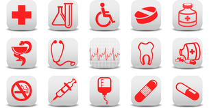 Vector illustration of medecine icons .You can use it for your website, application or presentationのイラスト素材 [FYI03072825]